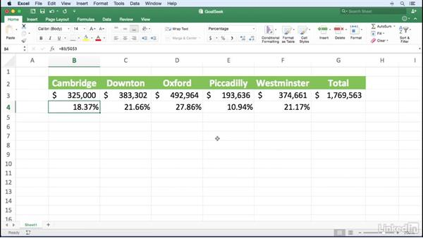 Finding a target value: Excel for Mac 2016 Power Shortcuts