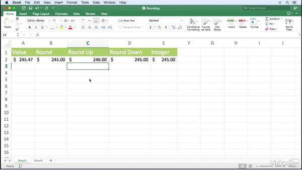 Rounding values: Excel for Mac 2016 Power Shortcuts