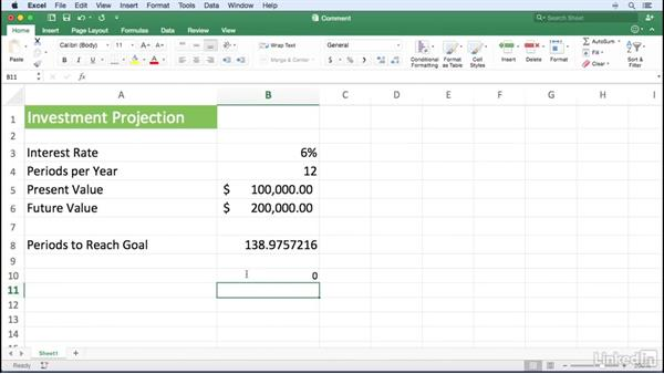 Commenting within a formula: Excel for Mac 2016 Power Shortcuts