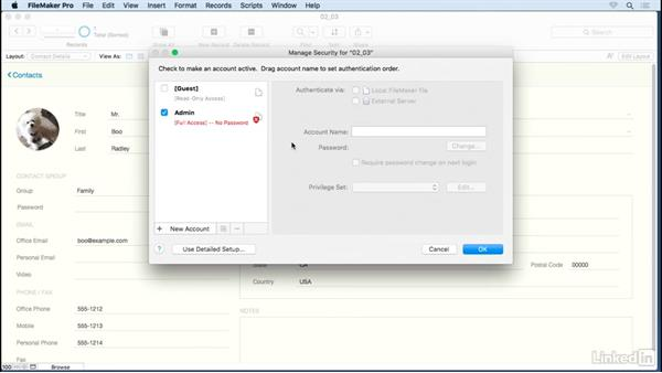 Require a password for full access: FileMaker 15 Platform New Features