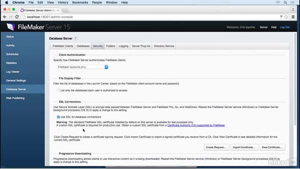 Request SSL certificates: FileMaker 15 Platform New Features