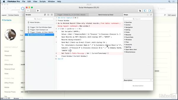 Undo scripting and highlight script errors: FileMaker 15 Platform New Features