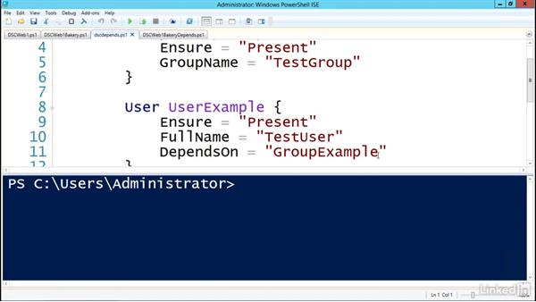 Ordering with DependsOn: PowerShell Desired State Configuration Essential Training