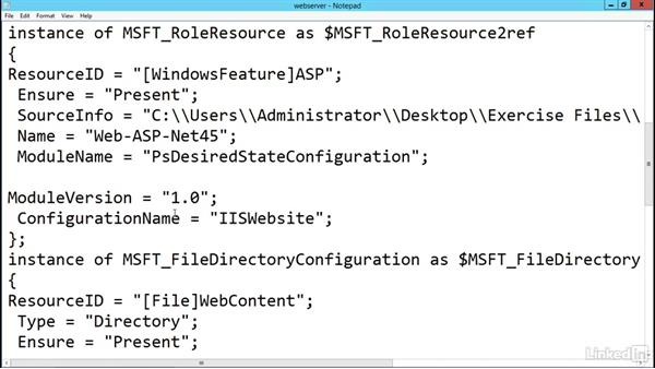 Staging configuration data: PowerShell Desired State Configuration Essential Training