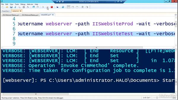 Restoring DSC configurations: PowerShell Desired State Configuration Essential Training