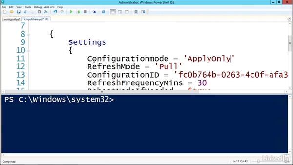 Automatically downloading resources: PowerShell Desired State Configuration Essential Training