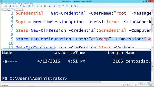 Configuring Linux with DSC: PowerShell Desired State Configuration Essential Training