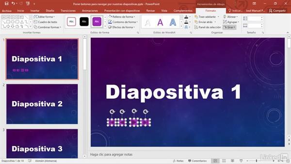 botones de navegaci u00f3n por las diapositivas en powerpoint