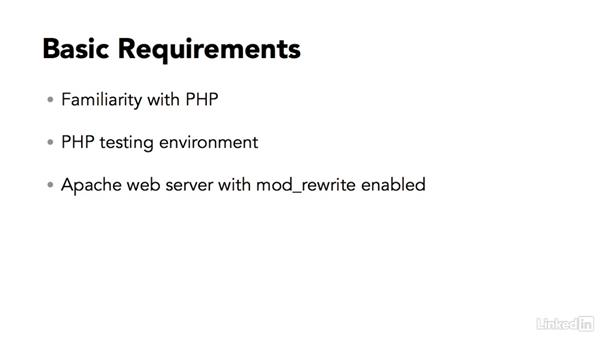 What you should know before watching this course: Clean PHP URLs on Apache Server