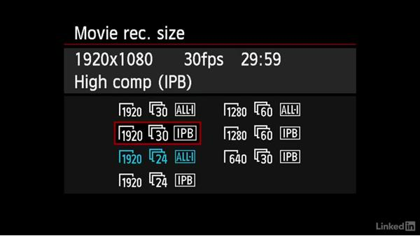 Menu options of the Canon 6D: DSLR Video Tips: Cameras & Lenses