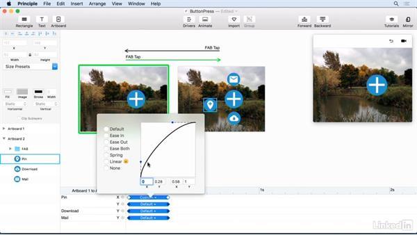 Animating a button press: UX Design Tools: Principle