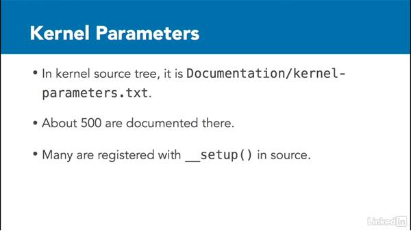 Identify and use the kernel command-line parameters: Linux Kernel Fundamentals