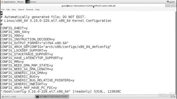 Explore kernel config files