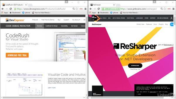 CodeRush and Resharper: Visual Studio 2015 Essentials 08: Extend and Customize the Visual Studio Environment