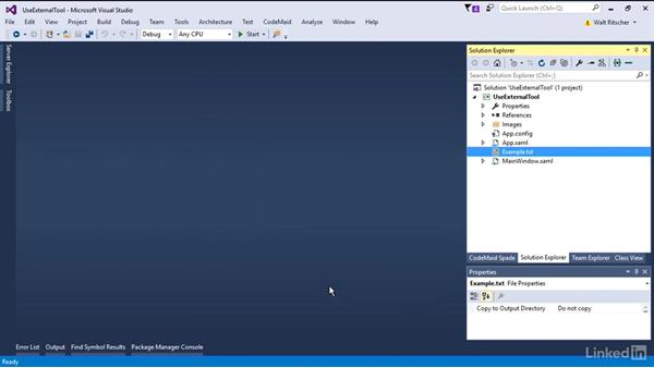 Add an external tool: Visual Studio 2015 Essentials 08: Extend and Customize the Visual Studio Environment