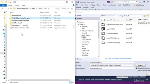 Where are default templates located?: Visual Studio 2015 Essentials 08: Extend and Customize the Visual Studio Environment