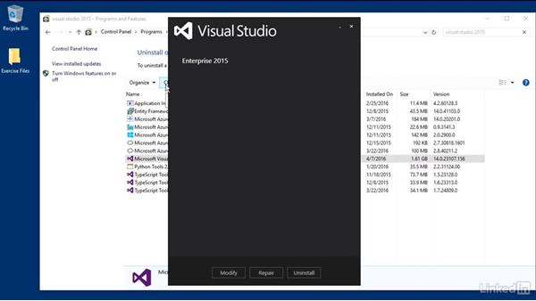Verify the extensibility tools are installed: Visual Studio 2015 Essentials 08: Extend and Customize the Visual Studio Environment