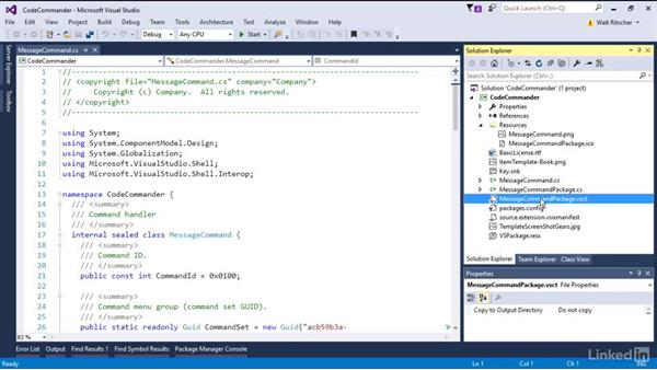 Add components to VSIX project: Visual Studio 2015 Essentials 08: Extend and Customize the Visual Studio Environment