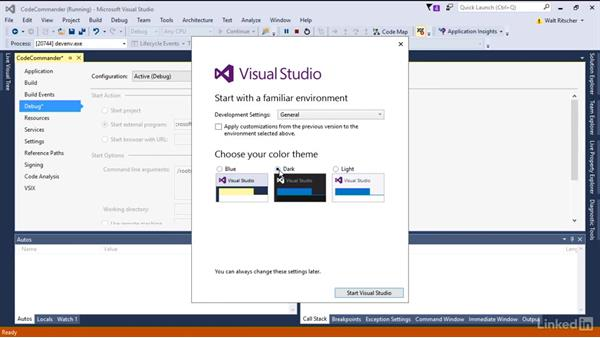 Run the VS Experimental instance: Visual Studio 2015 Essentials 08: Extend and Customize the Visual Studio Environment