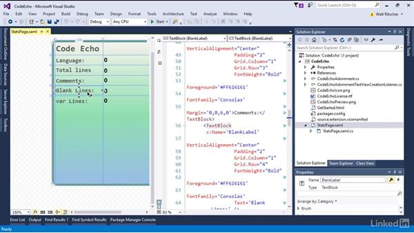Create an extension with custom UI: Visual Studio 2015 Essentials 08: Extend and Customize the Visual Studio Environment