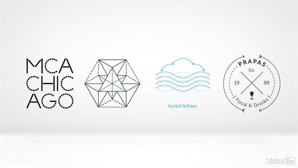 Line dash: Hierarchy of line: Logo Trend Report