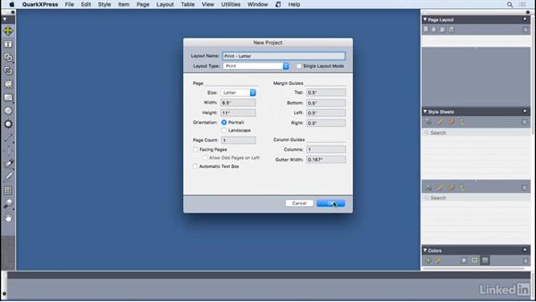 Understanding projects and layouts: QuarkXPress 2016 Essential Training