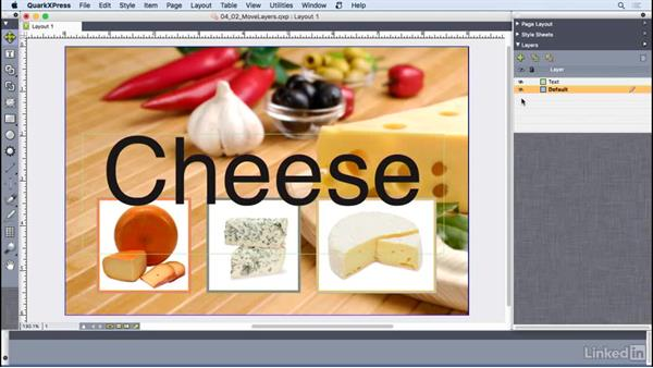 Moving and merging layers: QuarkXPress 2016 Essential Training