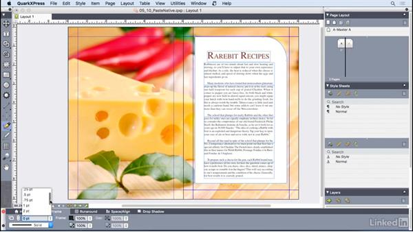 Pasting from other applications: QuarkXPress 2016 Essential Training