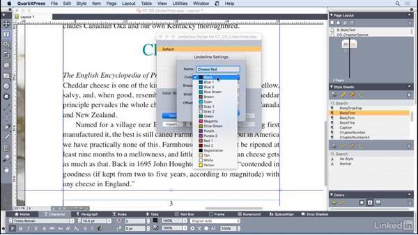 Creating custom underlines: QuarkXPress 2016 Essential Training