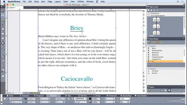 Working with paragraph rules: QuarkXPress 2016 Essential Training