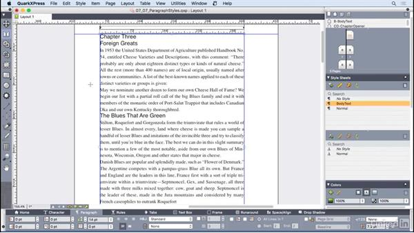 Working with paragraph style sheets: QuarkXPress 2016 Essential Training