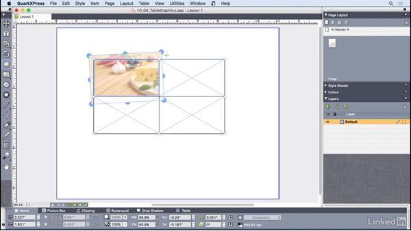 Adding graphics to tables: QuarkXPress 2016 Essential Training