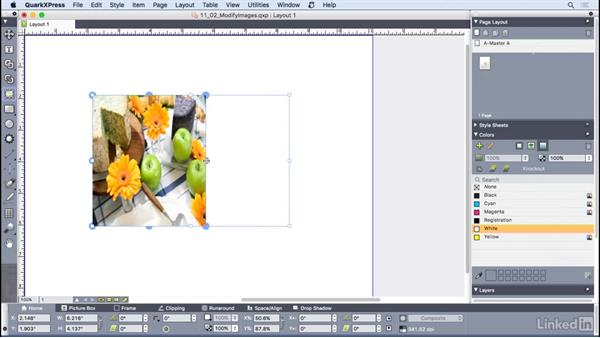 Modifying imported images: QuarkXPress 2016 Essential Training
