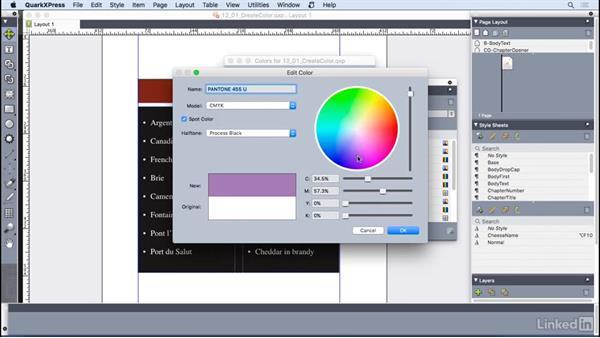 Creating colors: QuarkXPress 2016 Essential Training