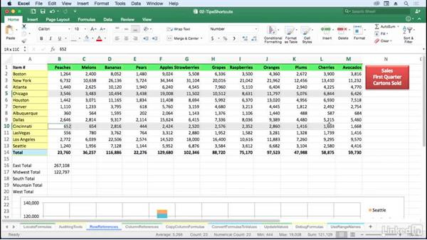 Use entire row/column references in formulas: Excel for Mac 2016: Advanced Formulas and Functions
