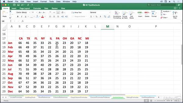 Update values without formulas: Excel for Mac 2016: Advanced Formulas and Functions