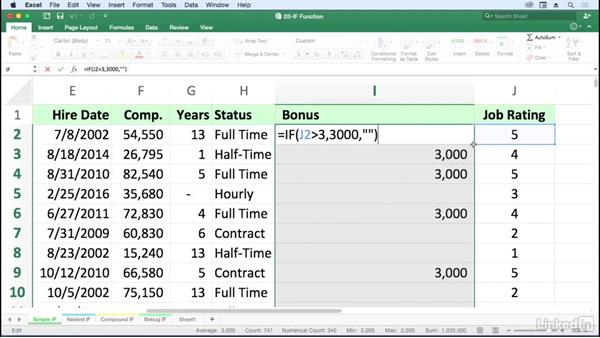 Use relational operators and IF logical tests: Excel for Mac 2016: Advanced Formulas and Functions
