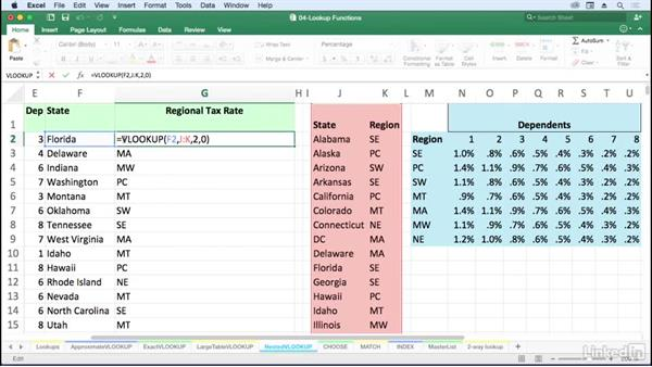 Use nested lookup functions: Excel for Mac 2016: Advanced Formulas and Functions