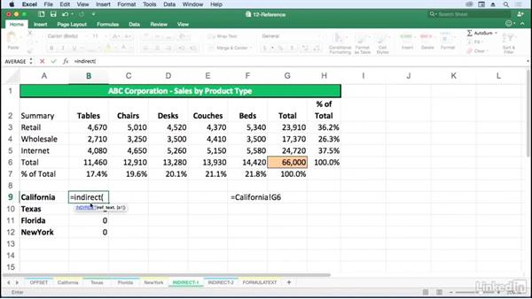 Return references with INDIRECT: Excel for Mac 2016: Advanced Formulas and Functions