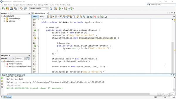 Create a simple JavaFX program: JavaFX GUI Development