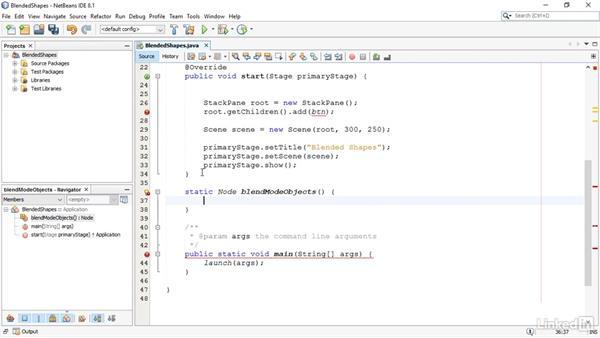 Blend shapes: JavaFX GUI Development