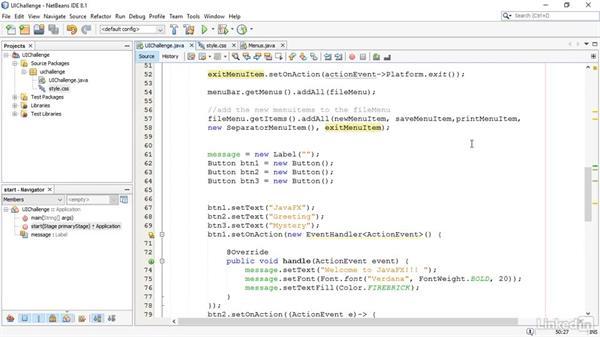 Solution: Create a customer user interface challenge: JavaFX GUI Development