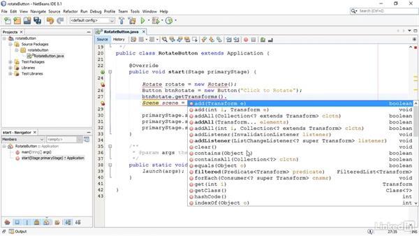 Animate using transformations: JavaFX GUI Development