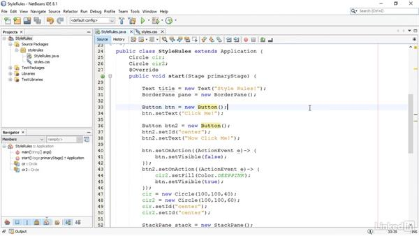 Create style rules: JavaFX GUI Development