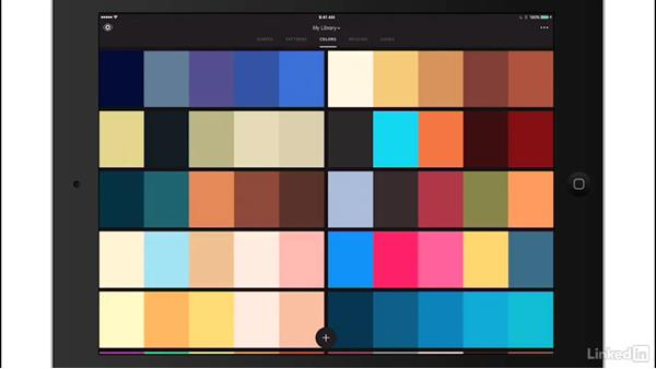 Explore the Capture interface: Adobe Mobile Apps For Designers