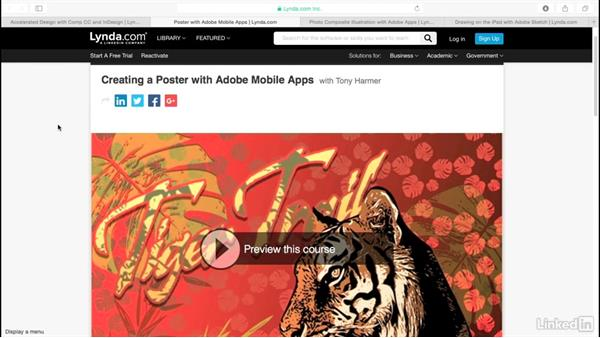 Continue your learning experience: Adobe Mobile Apps For Designers
