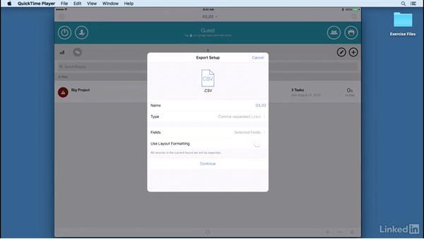Navigating the menu bar: Learn FileMaker Go 15: The Basics