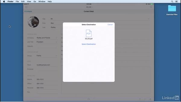 Printing and exporting: Learn FileMaker Go 15: The Basics