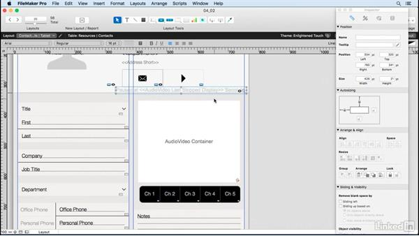 Working with images, movies, and sound: Learn FileMaker Go 15: The Basics