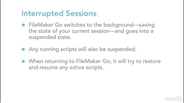 Security and session management: Learn FileMaker Go 15: The Basics